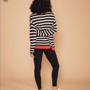 Lou & Grey Striped Ribbed Tunic Sweater M